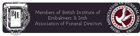 Conneely Funeral Directors are members of the British Institute of Embalmers and the Irish Association of Funeral Directors